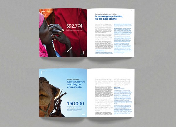 Adeso impact report design