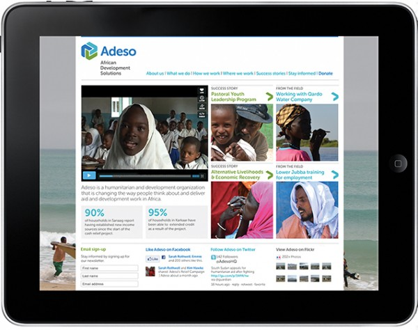 Adeso website design