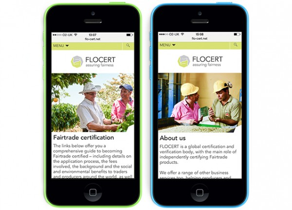 FLOCERT mobile responsive layout