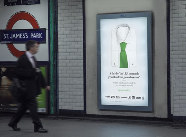 Tube advertising for Stop Climate Chaos