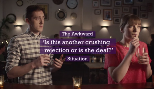 Still from Scope's End the Awkward campaign video