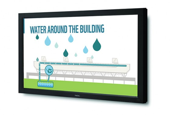 Water cycling through the building animation