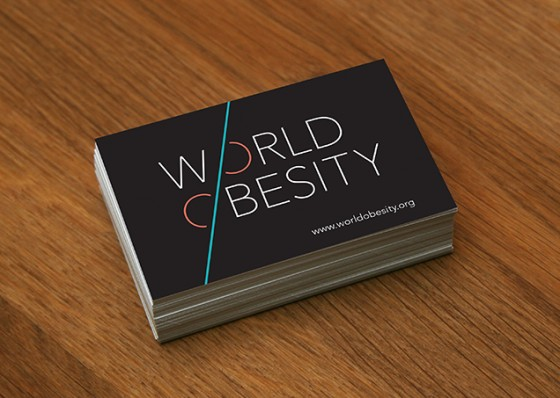 World Obesity business card designs