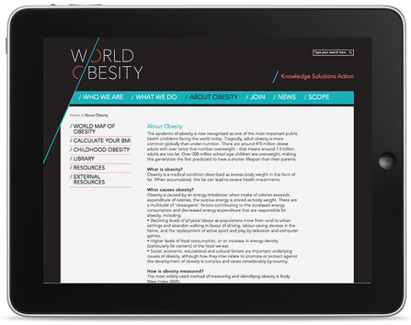 World Obesity Website design