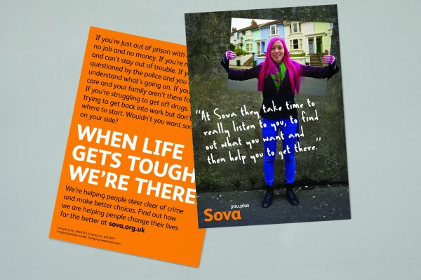 Sova postcard design