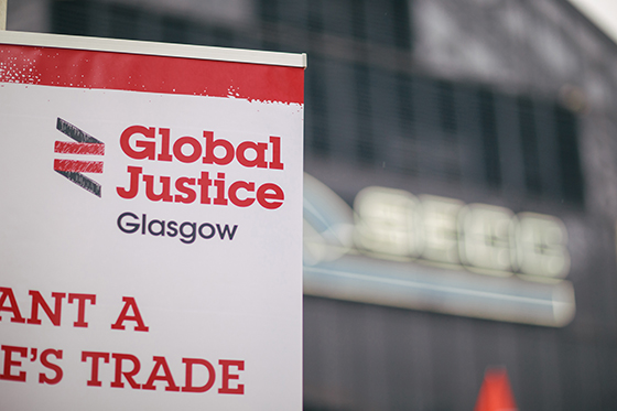 Global Justice Glasgow Banner