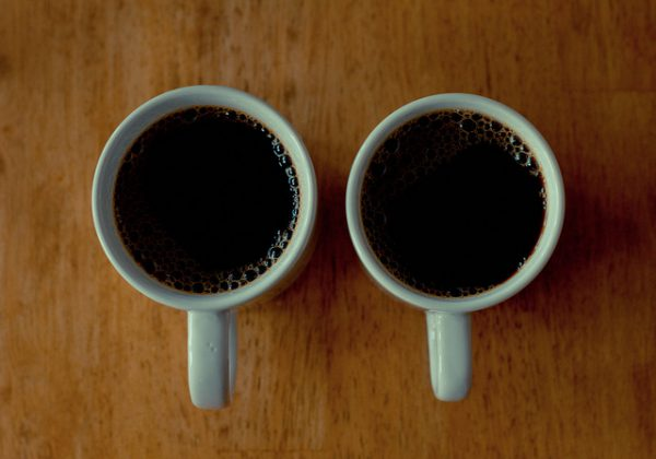 Two coffee mugs by Flickr user Porsche Brosseau