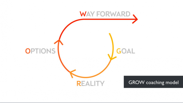 GROW coaching model visualisation by Neo