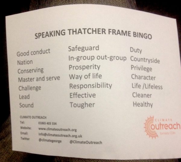 A list of words & ideas to listen out for in Margaret Thatchers speech to the Conservative Party in 1989