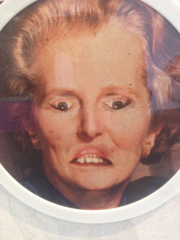 thatcher image, from exhibiiton feature at At-Bristol science centre